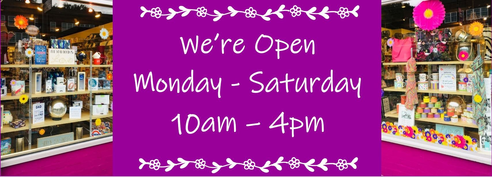 Temporary Opening Times 10 - 4pm