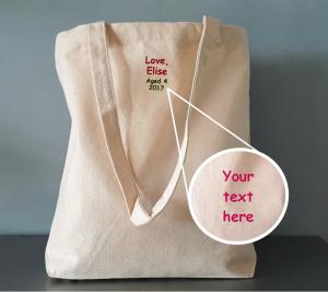 Reverse of bespoke bags