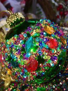 Christmas Sequin Bauble Green