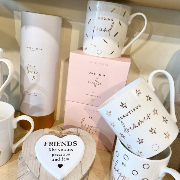 Porcelain mugs by Katie Loxton
