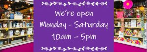 Temporary opening hours 10am to 5pm
