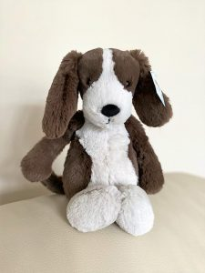 Jellycat Brown and White Dog teddy