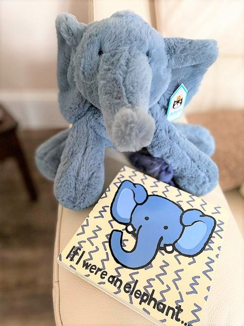 Jellycat Elephant teddy and book
